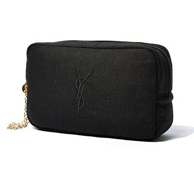 AU22.99 • Buy 1x YSL Black Makeup Cosmetics Bag With Gold Chain Strap, Large Size, Brand NEW!