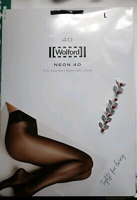 Brand New Wolford Admiral Neon 40 Glossy Tights Large  • 28£