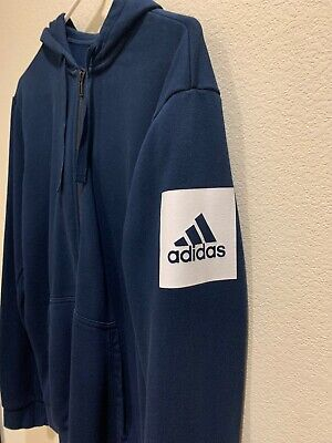 $10 • Buy Adidas Box Logo Training Zip Front Sweatshirt Hoodie Jacket Size Medium