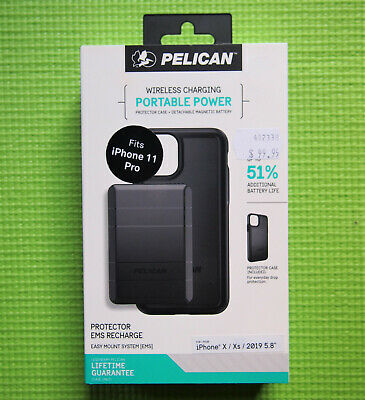 AU71.76 • Buy Pelican Protector Case + EMS Recharge Battery Pack For IPhone 11 Pro (fits X/Xs)