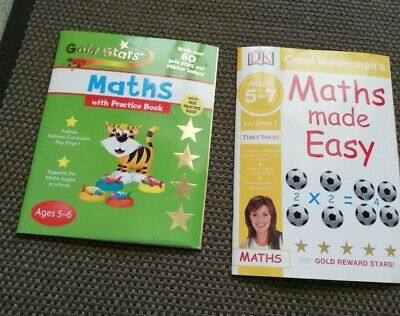 Maths Made Easy Ages 5-7 Key Stage 1 Practice Book Gold Stars Carol Vorderman • 7.99£