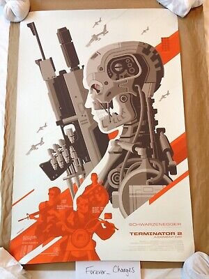 Terminator 2: Judgment Day By Tom Whalen (Mondo Screenprint Poster) • 150£