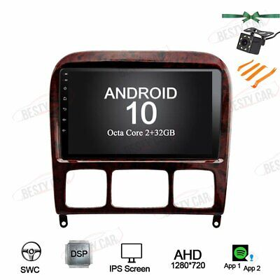 $299 • Buy 9  Android 10.0 Car Radio Stereo GPS NAVI For Benz S280 S320 S350 S400 S500 W220