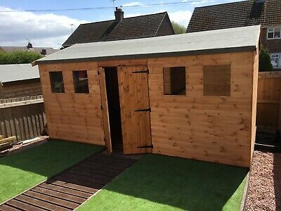 Wooden 16 X 10 Shed Workshop In Various T&G Timber Cladding & Roof Coverings • 1,461£