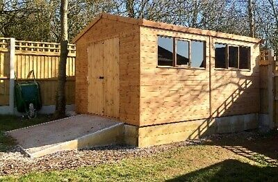 Wooden 16ft Heavy Duty Timber Workshop Shed In T&G Cladding & Various Sizes • 1,757£