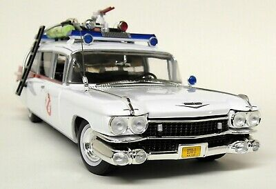 Autoworld 1/18 Scale 1959 Cadillac Ecto-1 Ghostbusters Slimer Diecast Model Car • 129.99£
