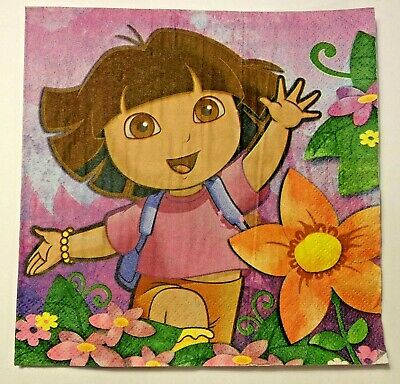 NEW DORA THE EXPLORER PARTY LUNCH NAPKINS 16ct Birthday Supplies  • 3.19£
