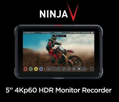 "Atomos Ninja V 5"" Field Monitor/Recorder - Records Full 4Kp60 HDR In Prores Raw • 649£"