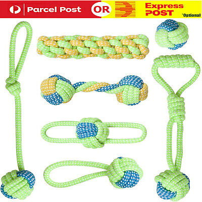 AU23.99 • Buy 7X Dog Rope Toys Tough Strong Chew Knot Knotted Pet Puppy Healthy Teeth Bear