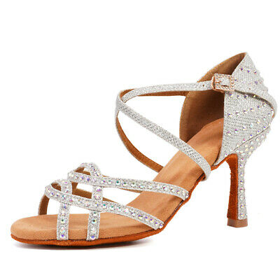New International Latin Standard Diamond Dance Shoes Girls/women/ladies Heeled • 25.02£