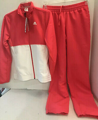 $59.99 • Buy Adidas Club Tennis Tracksuit Women's 2PC SET JACKET & PANTS Coral/White XS NWT