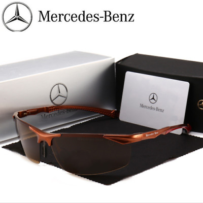 Mercedes Men's Polarized Sunglasses UV Protection Metal Frame Al-Mg Ultra Light • 12.89£