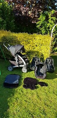 Graco Pushchair Stroller Car Seat And Two Car Seat Lockable Bases Travel System • 50£