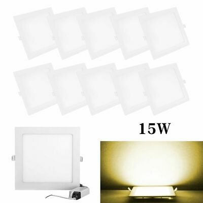 $5.66 • Buy 1/4/10 Pack 15W Recessed Square LED Ceiling Down Lighting Bulb Temp 7.5  Lamp