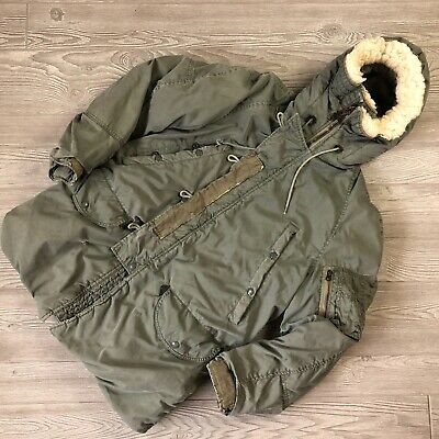 $ CDN101.64 • Buy Vintage Military Parka N3B Extreme Cold Weather Jacket 60s Scovill Zippers S