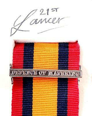 AU15.12 • Buy Qsa Queens South Africa Medal Ribbon Bar Clasp Defence Of Mafeking Boer War