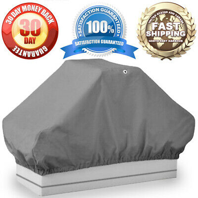 $ CDN30.35 • Buy Boat Back To Back Pontoon Seat Cover 50  D X 22  W X 22  H Grey Canvas