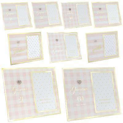 £6.55 • Buy Gold Birthday Glass Photo Frames Fabulous Gorgeous Friend Special Occasion Gift