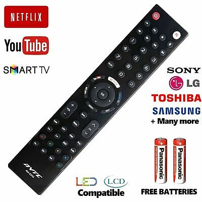 Universal Remote Control Sony LG Toshiba Samsung + Smart TV 3D LCD LED HD TV  • 4.90£