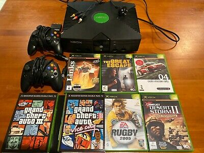 AU107.50 • Buy Original Xbox Console, 2 Controllers, 6 Games, Cables. V Good Condition