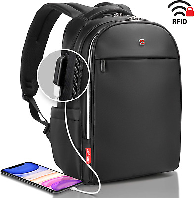 Business Laptop Backpack Swiss Design USB Quick Charge For Men Women Raincover • 107.96£