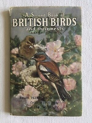 A Second Book Of BRITISH BIRDS And Their Nests 1955 Ladybird In Unclipped DJ • 35£
