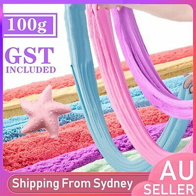 AU5.99 • Buy 100g Colorful Floam Strechy Slime Fluffy Rainbow Slimes Stress Relief Plasticine