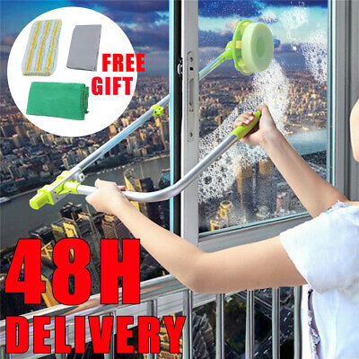 U-type Telescopic Window Cleaning Extendable Soft Head Pole Glass Cleaner Kit UK • 21.99£