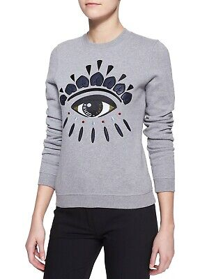 AU139 • Buy Classic Kenzo Evil Eye Embroided Sweatshirt - Excellent Condition - Size Small