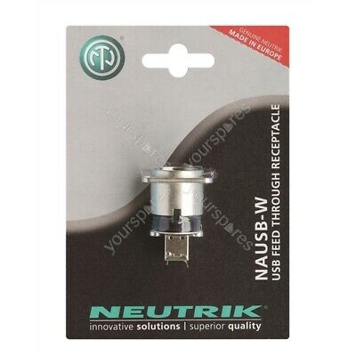 Neutrik NAUSB-W-POS USB A To USB B Coupler In D Chassis Mounting Blister • 10.53£