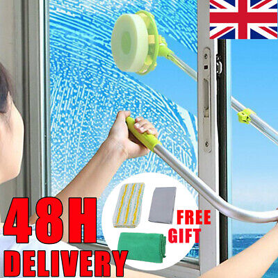 U-type Telescopic High Rise Window Cleaner Glass Cleaning Brush Squeegee Kit Uk • 14.97£