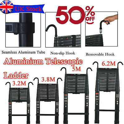 £23.30 • Buy Telescopic Loft Ladder 2.6M-5M Extendable Collapsible Step Ladders Securing Bolt