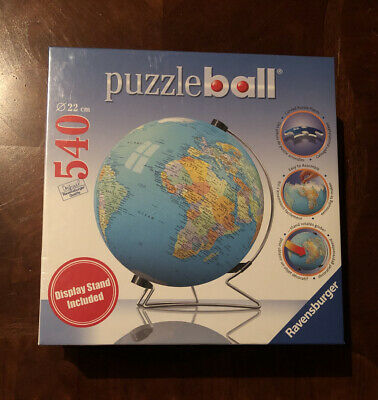$49.99 • Buy Puzzle Ball 540 Pieces The Earth 3D With Stand~ Ravensburger