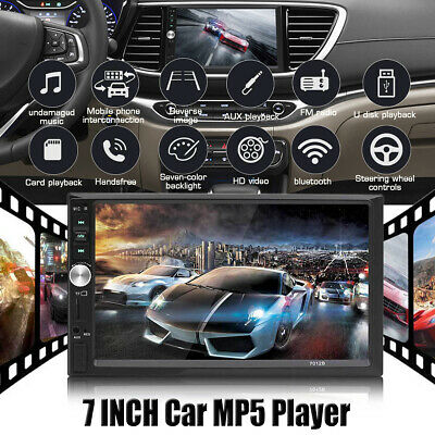 AU55.99 • Buy 7 Inch 2 DIN Head Unit Car Stereo MP5 Player Touch Screen BT Radio FM/USB/AUX AU