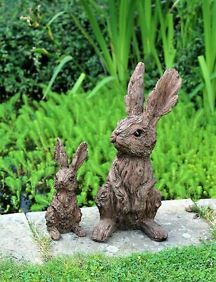 £8.95 • Buy  Garden Ornament Rabbit Hare Indoor Outdoor Wood Effect LARGE AND SMALL