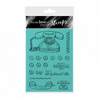 £5.99 • Buy A PHONE CALL AWAY - For The Love Of Stamps Clear Stamp Set - Hunkydory