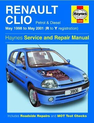 Haynes Service And Repair Manual Renault Clio May 1998 To May 2001 Hardback • 4.95£