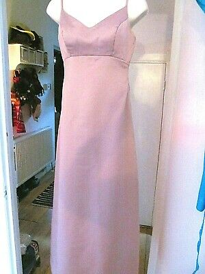 Alfred Angelo Dusky Pink Long Bridesmaid/prom/ball Gown Size 8 • 19.99£