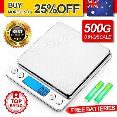 AU13.95 • Buy 0.01-500g Kitchen Digital Scale LCD Electronic Balance Food Weight Postal Scales