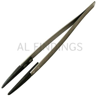 £2.99 • Buy Tweezers With Plastic Tips 40mm Plastic Tip With 12mm Opening 160mm Long Tool