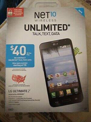 $20 • Buy NEW - Net10 Prepaid LG Ultimate 2 Android Smart Phone 8GB 4.5  3G
