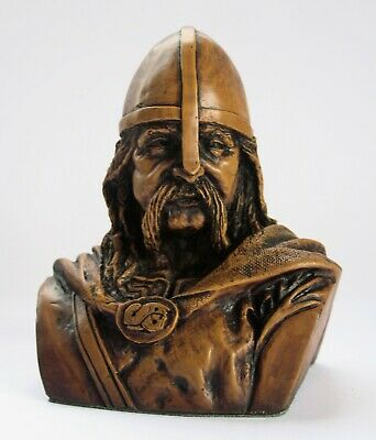 Viking Bust Pagan Norse Hand Crafted Ornament Ragnar Warrior Gift • 16.99£