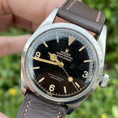 $ CDN32688.02 • Buy 1956 Vintage Rolex Explorer 6610 With Glossy Patina Dial Unpolished Mint (1016)