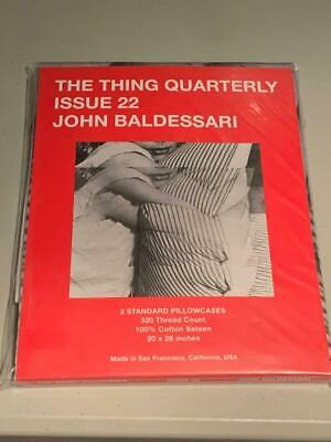 The Thing Quarterly John Baldessari Pillowcases Issue 22  Limited Edition NEW • 187.16£