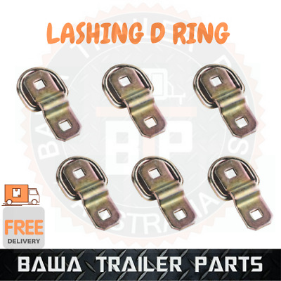 AU31.95 • Buy 6 X LASHING D RING ZINC PLATED TIE DOWN POINTS TRAILER CENTER TO CENTER 45MM !