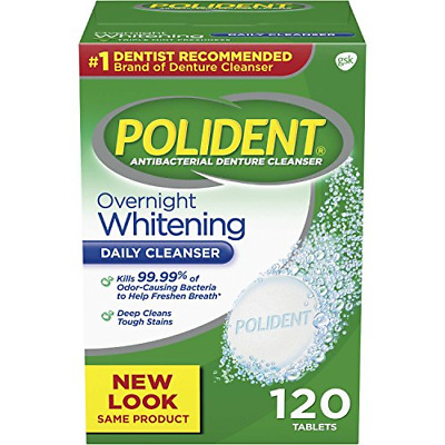 $8.63 • Buy Polident Overnight Whitening Antibacterial Denture Cleanser Effervescent 120