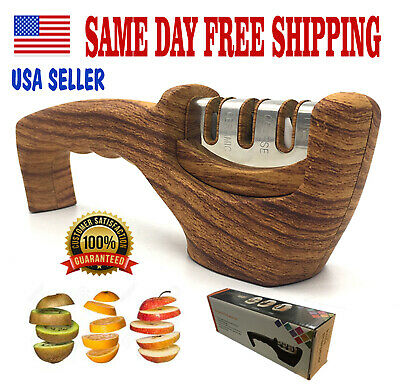 $9.95 • Buy KNIFE SHARPENER PROFESSIONAL Heavy Duty Ceramic Tungsten 3 Stage Chef Tool.Boxed
