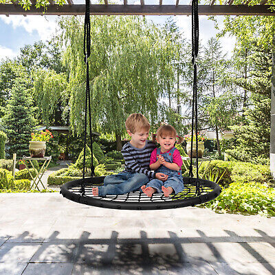 Children Nest Swing Padded Seat Set Hanging Tree Crows Seat Heights Adjustable • 34.99£