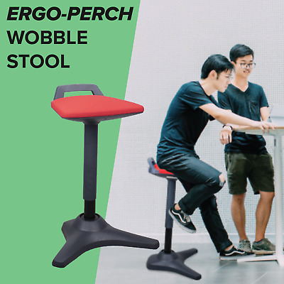 AU297 • Buy Sit Stand Stool Ergo Perch Ergonomic Standing Gas Adjustable Wobble Action Base