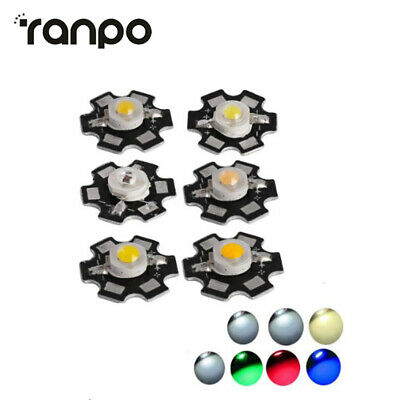 AU6.64 • Buy 10/20Pcs 1W LED Chip With PCB High Power Bead Lamp Multiple Color Selection